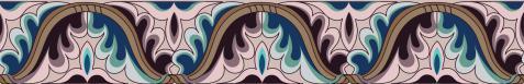 图8 双叶多层波状连续忍冬纹